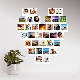 Pack impresión: diseño con forma de corazón en foto Polaroid