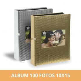 Álbum premium para 100 fotos 10x15 cm dorado