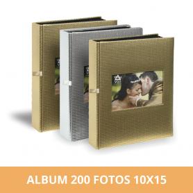 Álbum premium para 200 fotos 10x15 cm