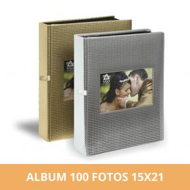 Álbum premium para 100 fotos 15x21 cm