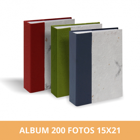 Álbum Diseño Hojas 200 fotos 15X21 cm