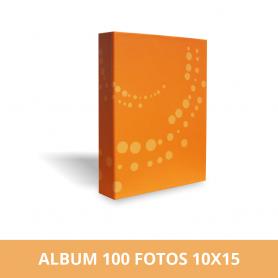 Álbum para 100 fotos 15x21 cm naranja