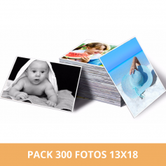 Pack 300 fotos 13x18