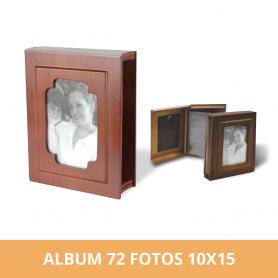 Álbum Libro Vintage de Madera para 72 Fotos 10x15