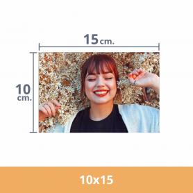 Impresión de fotos 10x15. Revelado en papel fotográfico