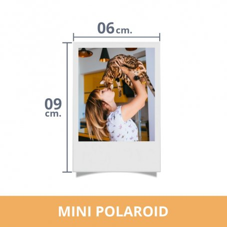 Impresión de fotos miniPolaroid. Revelado en papel fotográfico