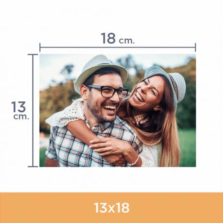 Impresión de fotos 13x18. Revelado en papel fotográfico