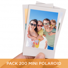Pack 200 Mini Polaroid 6x9