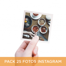 Pack 25 Fotos Instagram 10x10 cm.