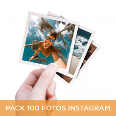 Pack 100 Fotos Instagram 10x10 cm.