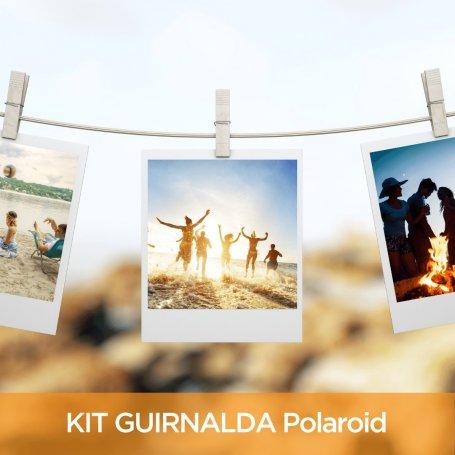 Kit 16 fotos Polaroid 10x8 + 16 Broches + Hilo