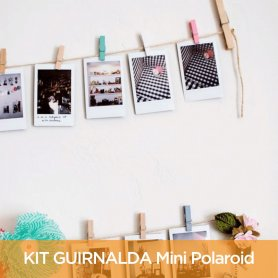 Kit 16 fotos Mini Polaroid 10x8 + 16 Broches + Hilo