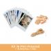 Kit 16 fotos Mini Polaroid 10x8 + 16 Broches + Hilo