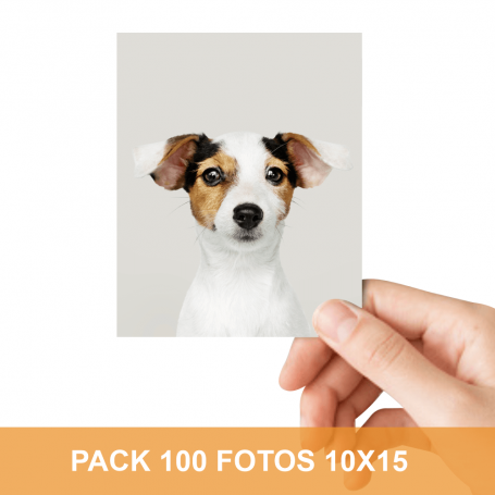 Pack impresión 100 fotos 10x15 cm. Revelado en papel fotográfico