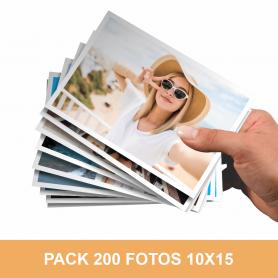 Pack impresión 200 fotos 10x15 cm. Revelado en papel fotográfico