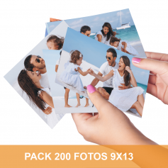 Pack 200 fotos en 9x13