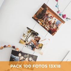 Pack 100 fotos 13x18 - Hot Price