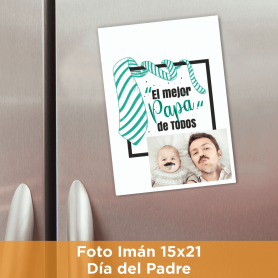 Foto Imán 15x21 Día del Padre