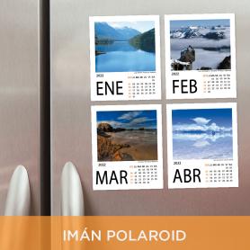 Calendario anual 2022 imantado Polaroid - 12 fotos